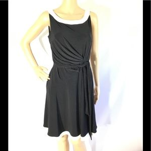Chaps Colorblock Fit & Flare Dress Brand New